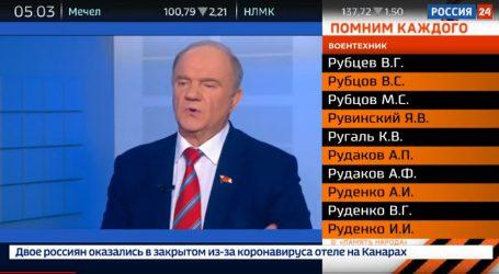 Rusko: Štátna televízia bude 76 dní vysielať mená 12 miliónov padlých vojakov