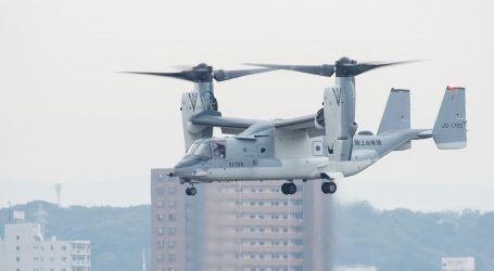 Spustenie letovej prevádzky konvertoplánu V‑22 na vojenskom letisku v Kisarazu